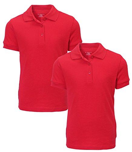 French Toast Girl's 2 Pack Uniform Short Sleeve Polo Shirts