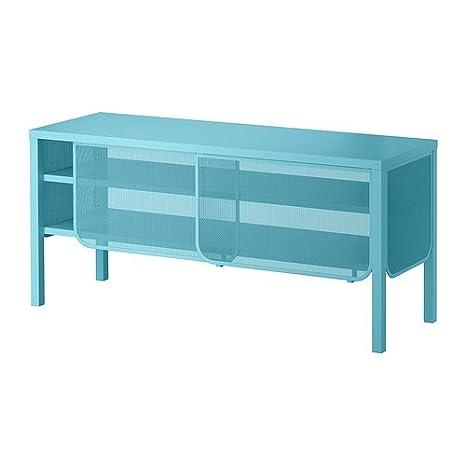 IKEA NITTORP - Mueble TV, turquesa - 122x55 cm