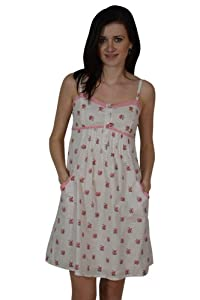 Cotton Sweetheart Ruched Spaghetti Strap Floral Print  Dress