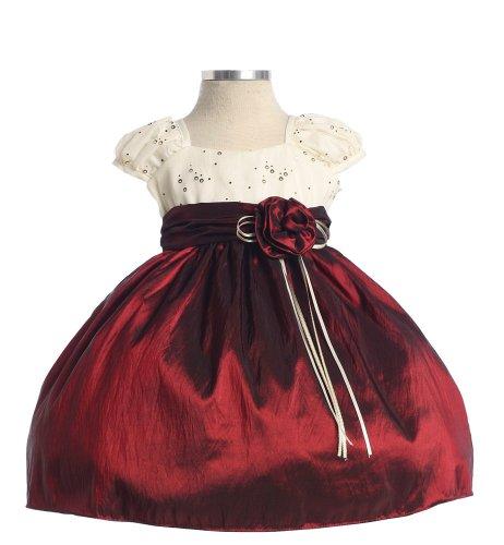 Glittered Burgundy Dress ~ 12M Med (SK B3830)