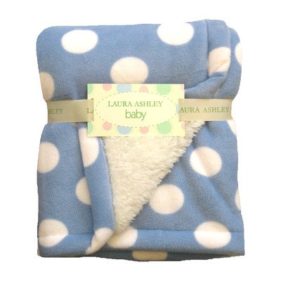 Dot Crib Throw Color: Blue - 1