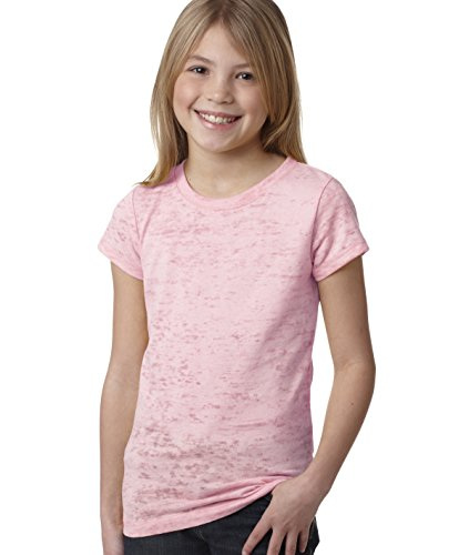 Next Level Youth Princess Burnout Tee 6510 - Light Pink_M