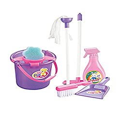 Lovely Play House Toys Simulation Furniture Kids Toys Cleaning Tools Set