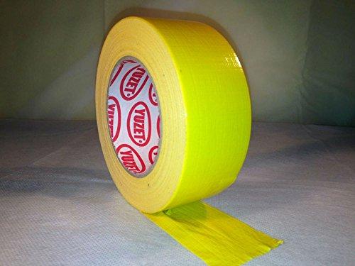 6-rolls-yuzet-premium-gaffer-tape-yellow-48mm-x-50m-gaffa-duct-duck-packing-cloth