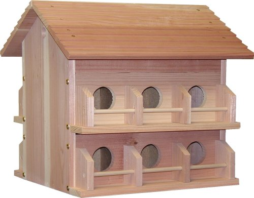 Heath Outdoor Products M-12Dp Deluxe Wood Martin House