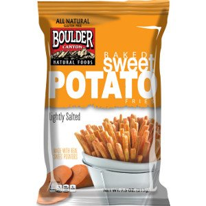 Boulder Canyon - Baked Sweet Potato Fries (Lightly Salted, Gluten Free & All Natural), Case of TWELVE Bags, Each Bag is 7.5 oz (Pack of 12)
