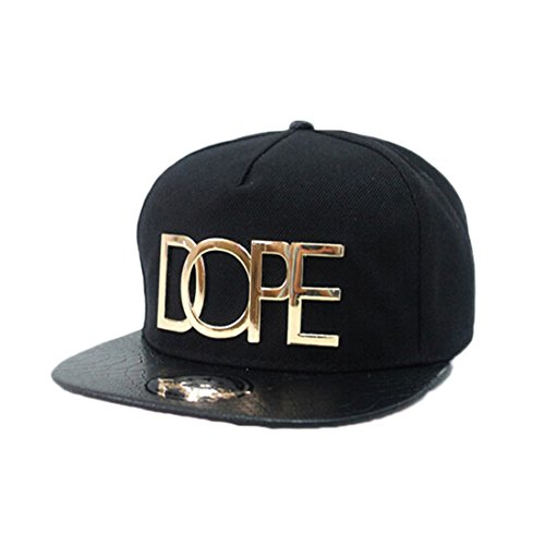 Coromose® Fashion Cool Adjustable Snapback Hip-hop Baseball Cap Hat Unisex (Black) (Cool Snapbacks compare prices)