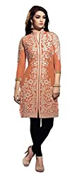Shree Vardhman Presents Georgette Stitched Kurti(Orange)