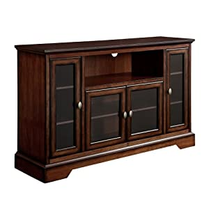 We furniture 52 inch highboy style wood tv stand black television stands Home furniture on amazon
