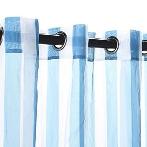 Amazon.com - Outdoor Decor Escape Stripe Grommet Outdoor Curtain