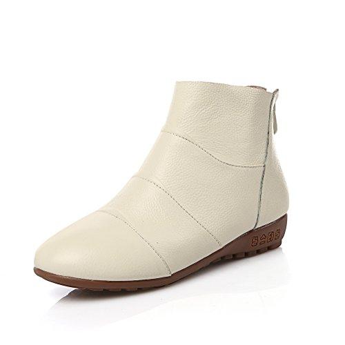 balamasa-ladies-chunky-heels-back-zipper-round-toe-beige-cow-leather-boots-35-uk