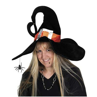 Deluxe Plush Witch Hat Party Accessory (1 count) (1/Pkg)