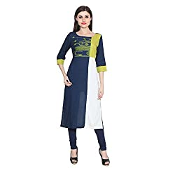 CJ15 Multicolor Casual Embroidered Women's Kurta_X-Large