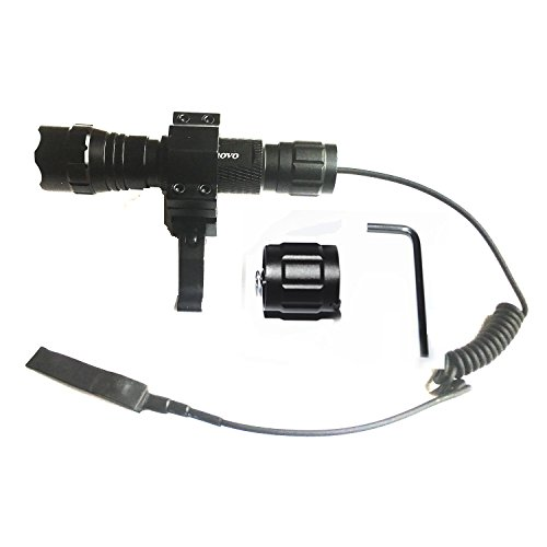 Ploarnovo 1000LM Tactical Flashlight Light With QD Quick Release Picatinny Rail Mount+Pressure Switch For Picatinny Quad Rail Rifle (Battery not included) (Quad Picatinny compare prices)