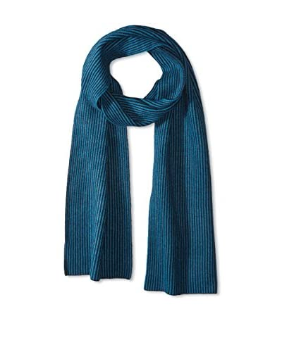 Portolano Men's Merino All Over Stripes Knit Scarf, Navy/Teal