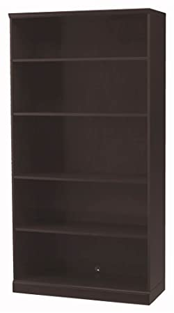 Mayline SB5ESP Sorrento Series Storage Options 5-Shelf Bookcase, Espresso Veneer
