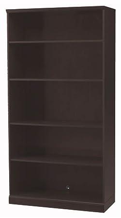 Mayline SB5ESP Sorrento Series Storage Options 5-Shelf Bookcase, Espresso Veneer