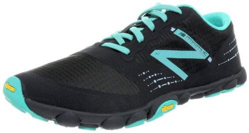 New Balance Women's WT00 Minimus Zero Drop Trail Running Shoe, Black/Turquoise (8)