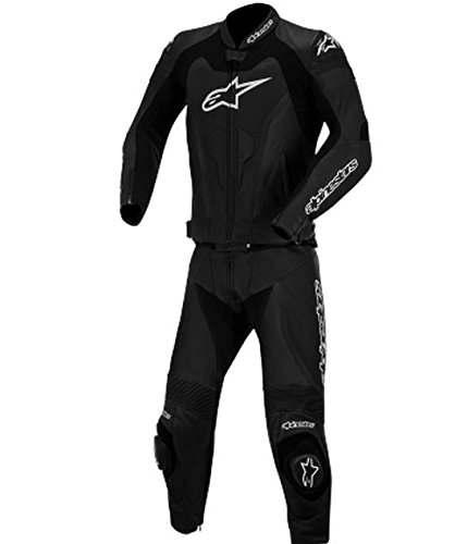 Alpinestars GP Pro Two-Piece Leather Suit, Gender: Mens/Unisex, Primary Color: Black, Size: 50, Apparel Material: Leather, Distinct Name: Black 3165014-10-50