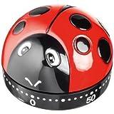 Horwood Ladybird Analogue Timer, Red