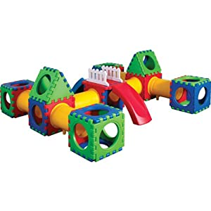 Tunnel Cube Set with Slide - 58 Pieces