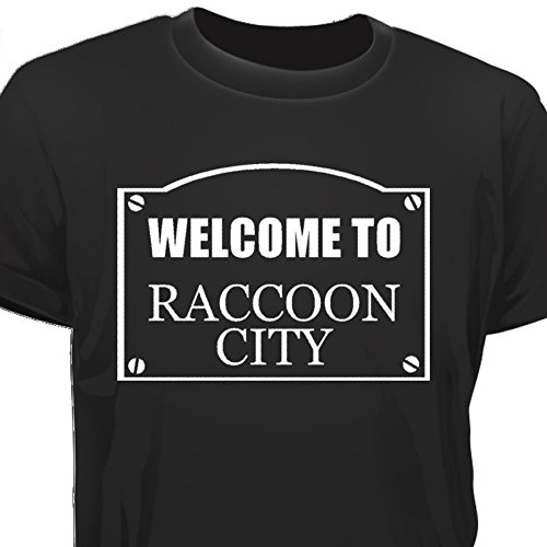 Creepyshirt - WELCOME TO RACOON CITY - RESIDENT EVIL RE INSPIRED T-SHIRT - L