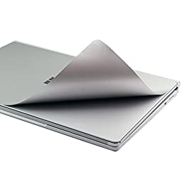 Masino® Set of 4 Body Protector Full Protective Skin Decal Cover for Microsoft Surface Book ( Decal- Grey Set of 4)