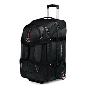 """High Sierra AT6 26"""" Expandable Wheeled Duffel with Backpack Straps (Black)"""