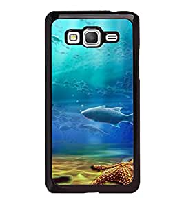 Fuson Premium 2D Back Case Cover Aquatic life With Grey Background Degined For Samsung Galaxy J5::Samsung Galaxy J5 J500F