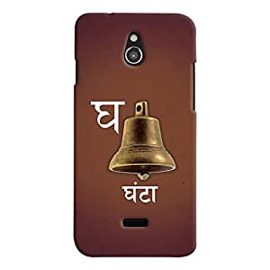 ColourCrust Infocus M2 Mobile Phone Back Cover With G Se Ghanta Quirky Varnmala - Durable Matte Finish Hard Plastic Slim Case