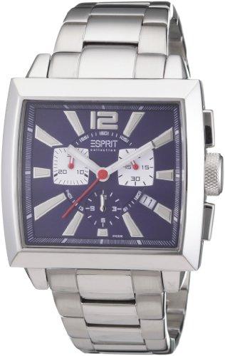 Esprit EL101031F06 - Reloj cronógrafo de cuarzo para hombre, correa de acero inoxidable color plateado