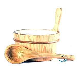 Bucket and Ladle for Saunas