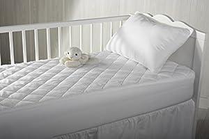 Pikolin Home PA21120PK060BLA - Protector de colchón para cuna, acolchado, impermeable y transpirable, 120 x 60 cm