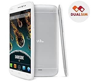 WIKO Darkside silver - Smartphone. + Flip pour Wiko Darkside - blanc - Etui à rabat