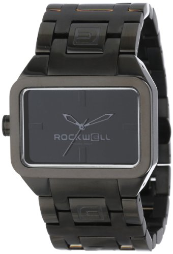 Rockwell Time Unisex DT108 Dual Time Black Plated Stainless Steel and Black Watch