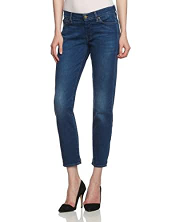 7 For All Mankind - Jeans - BoyFRiend Femme - Bleu - Blau (L.A. Romance) - FR : 27 (FR 36-38) (Taille Fabricant : 27) (Brand size : 27)