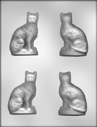 CK Products 3-1/8-Inch 3-D Sitting Cat Chocolate Mold