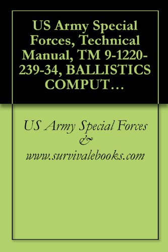 Us Army Special Forces, Technical Manual, Tm 9-1220-239-34, Ballistics Computer, Xm21, Nsn 1220-00-348-8437, 1980