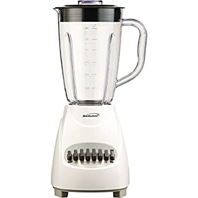 Brentwood JB-220W 12-Speed Blender Plastic Jar, White by Petra (Drop Ship)