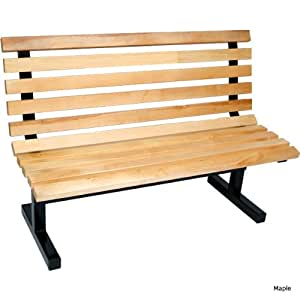 John Boos Wooden Commercial Park Bench With Back 72 L Outdoor Benches Patio