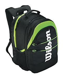 Wilson Platform Tennis Backpack-Black/Lime