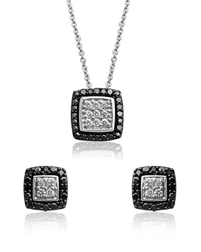 Jewelili Set collana e orecchini argento 925