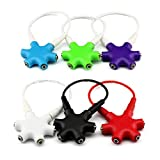BestBuyGoods Octopus 3.5mm 1 to 5 Stereo Audio Headphone Headset Earphones Splitter Adapter Converter Connector Music Sharing Device Music Hub for iPhone 5S 5C 5 4S 4iPad 2 3 4 5iPad AiriPad Mini 2 1 RetinaSamsung Galaxy S5 S4 S3 S2Galaxy Note 3 2 1HTC ONE M8Galaxy Tab TabPro Note 7 8 10.1 12.2Nokia LumiaSonyLG and Motorola Smartphone and All Tablets BBGXF-1470818-1pc Colors Black White Red Green Blue Purple Optional Or White Default