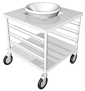 "IMC Teddy MBS-T30 Open Base with Under-Shelf and Tray Slides Mobile Bowl Stand for 30 Quart Bowl, 24"" W x 24"" L x 36"" H"