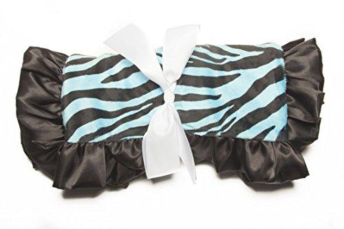 Minky Baby Blanket Zebra Ultra-Soft Minky Dots, 36IN X 30IN, Turquoise / Black