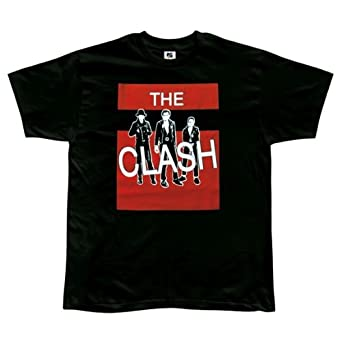 The Clash - Mens Red Block T-shirt - X-large Black
