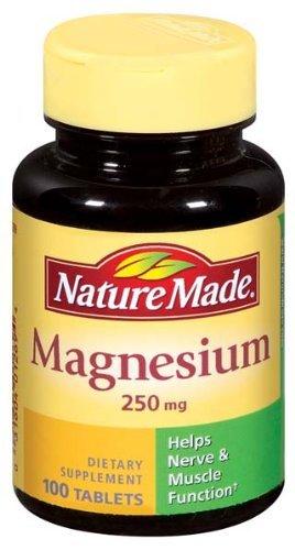 Nature Made MAGNÉSIUM 250 mg 100 Comprimés