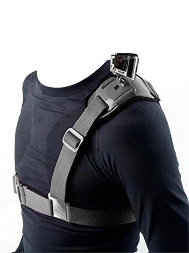 Fnkaf Colorful Shoulder Strap With Elastic Fibre And Polycarbonate Buckle For Sports Camera Black