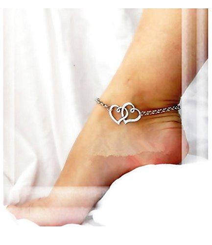 Leyu Fashion Wang White Gold Plated Simple Interlocking