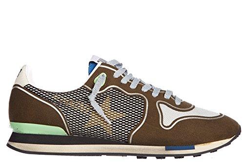 Golden-Goose-zapatos-zapatillas-de-deporte-hombres-en-piel-nuevo-running-verde